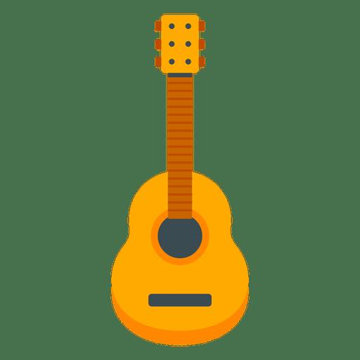 Flat guitar illustration