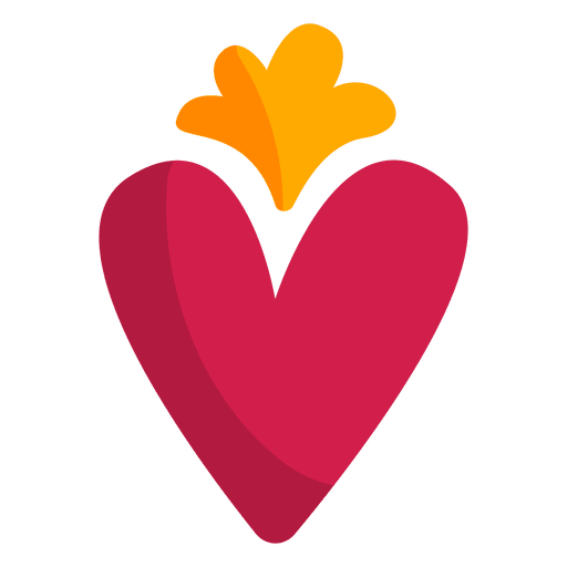flat heart icon transparent png svg vector