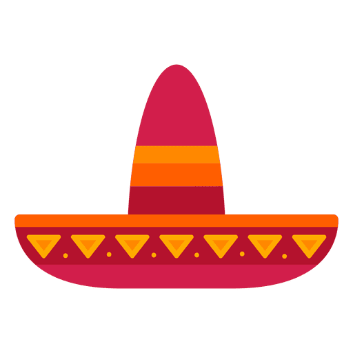 Flat mexico hat Transparent PNG