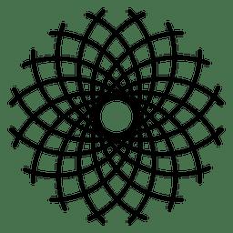 Modelo de logotipo de la vida de la flor