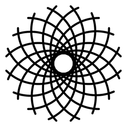 Teste padrão do logotipo da vida da flor