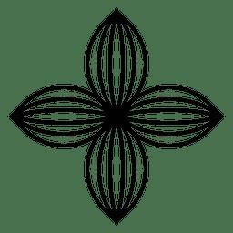 Cuatro flor de pétalo