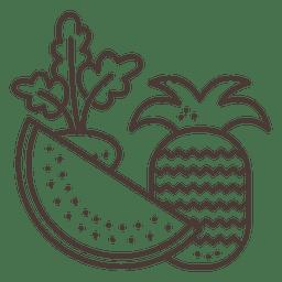 Ícones de traços de frutas