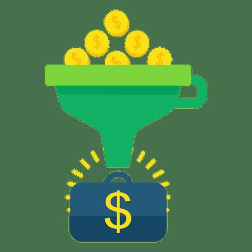 Funnel conversion money Transparent PNG