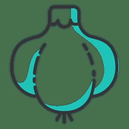 Icono de golpe de ajo plano