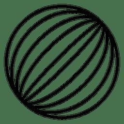 Líneas del logotipo del globo