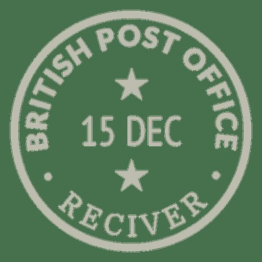 Gold-Briefmarke Transparent PNG