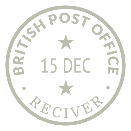 Gold stamp post Transparent PNG