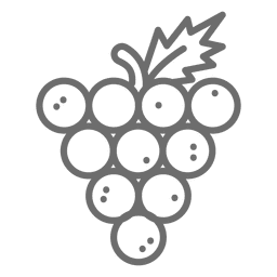 Grape cluster icon