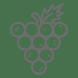 Icono de cluster de uva