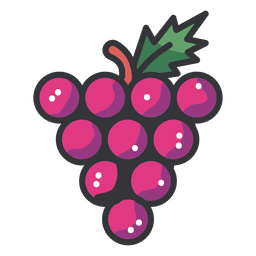 Grapes cluster icon