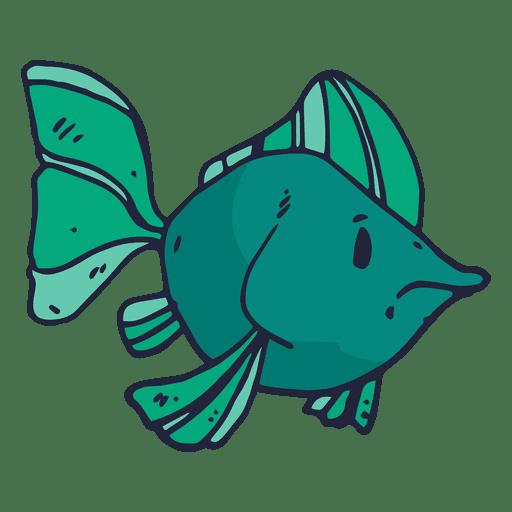 Dibujos animados de pescado verde
