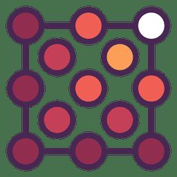 Grid dots logo