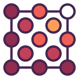 Logotipo de pontos de grade