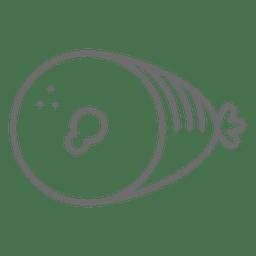 Símbolo de golpe de jamón