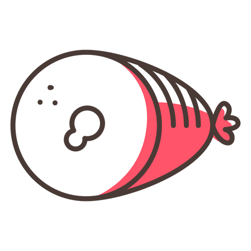 Ham food stroke icon Transparent PNG