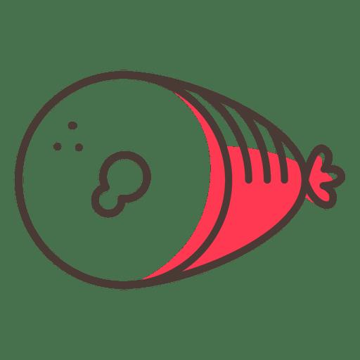 Ham food stroke icon