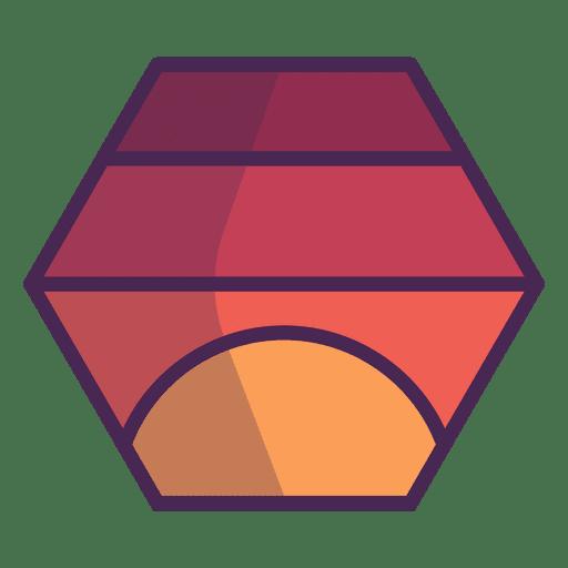 Hexagonal Logo Red Transparent PNG