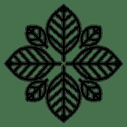 Logotipo da flor do hipster