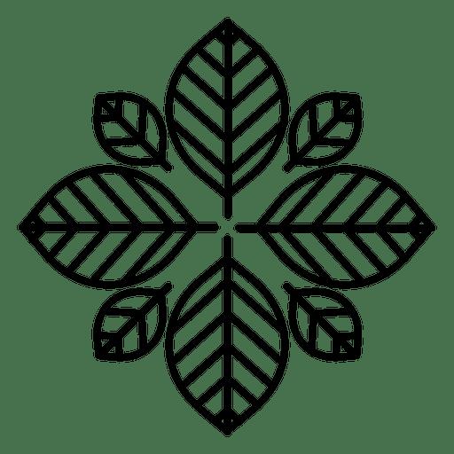Hipster flower logo Transparent PNG