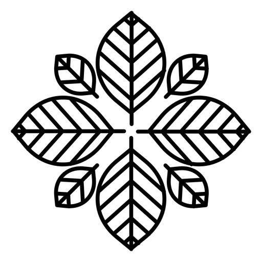 Logo de la flor del hipster Transparent PNG