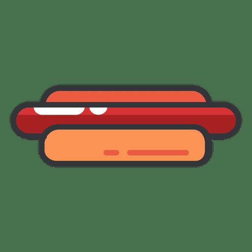 Cor de ícone plana de cachorro-quente Transparent PNG