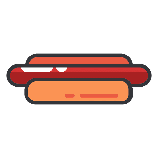 Hotdog flat icon color Transparent PNG