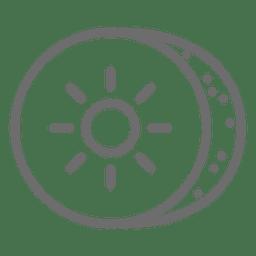 Icono de trazo de Kiwin