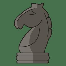 Caballero ajedrez figura negro