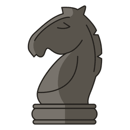 Knight chess figure black