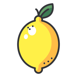 Lemon color icon