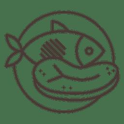 Icono de carne de pescado de carne de vaca
