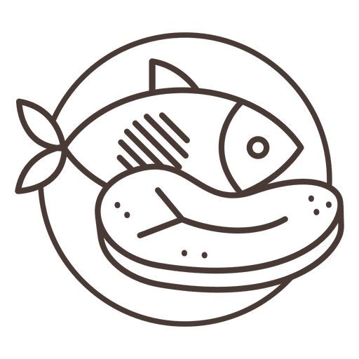 Meat icon beef fish