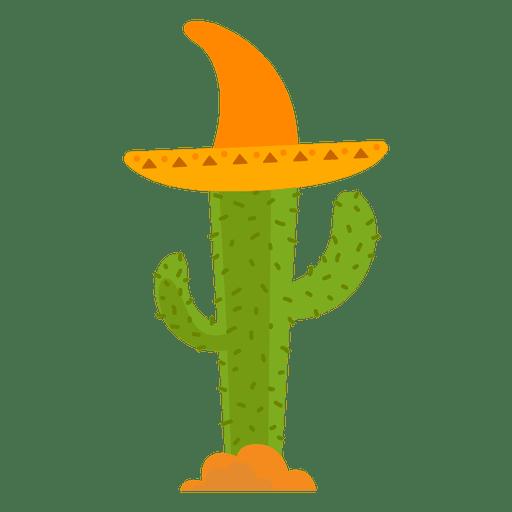Cacto de chapéu de México Transparent PNG
