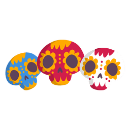Icono de calavera de México