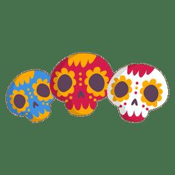 Mexiko-Schädel-Symbol
