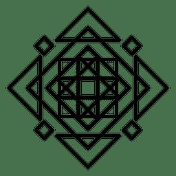 Resumo de logotipo de mosaico