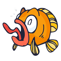 Dibujos animados de pescado naranja