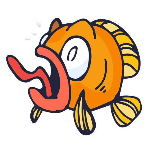Orange fish cartoon Transparent PNG