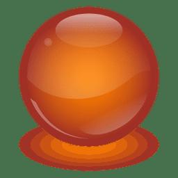 Bola de mármol naranja