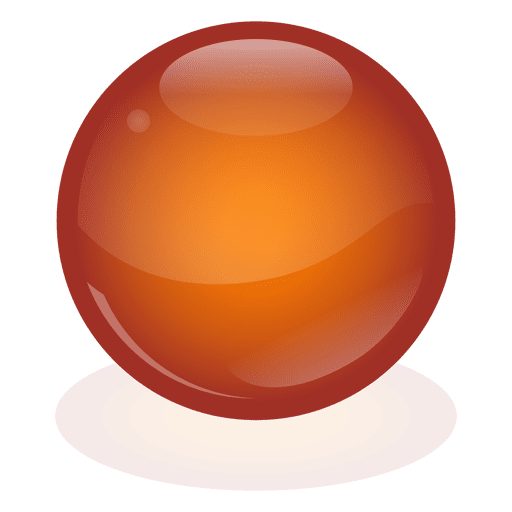 Orange marble ball transparent png svg vector for What s in a melon ball drink