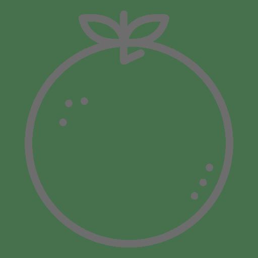 Orange stroke icon Transparent PNG