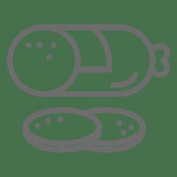 Icono de golpe de paté