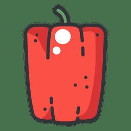 Ícone de cor de pimenta