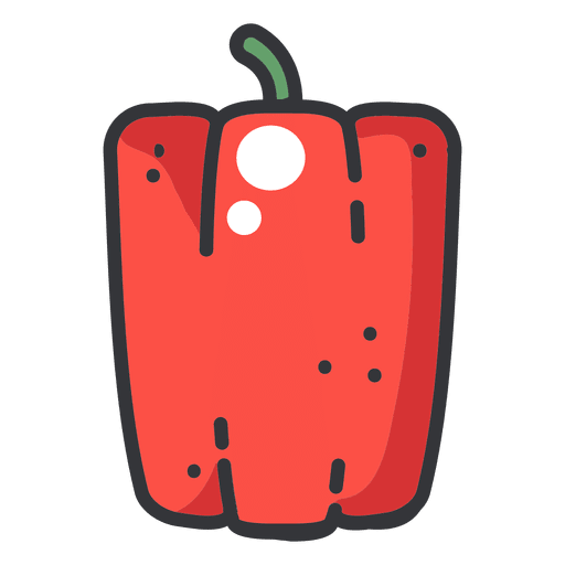 Pepper color icon Transparent PNG
