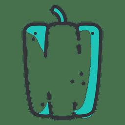 Ícone de traço plana de pimentão