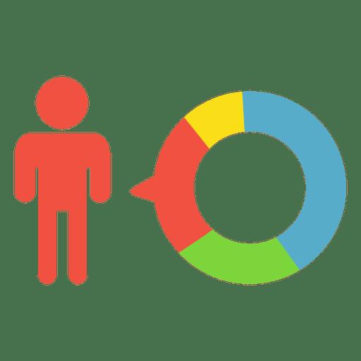Pastel de infografía de persona