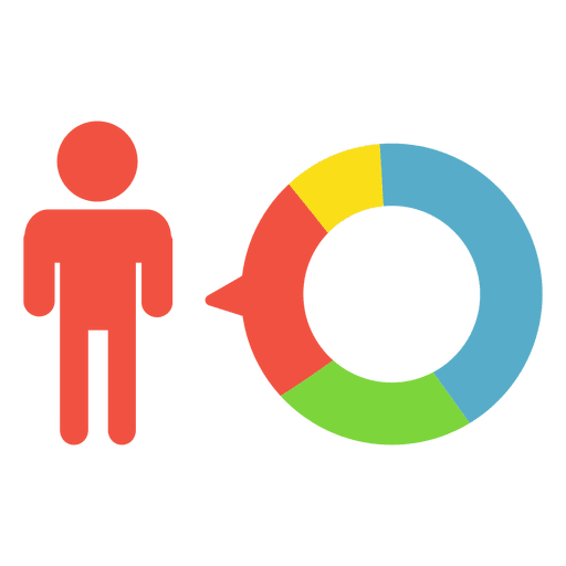 Person infographic pie Transparent PNG