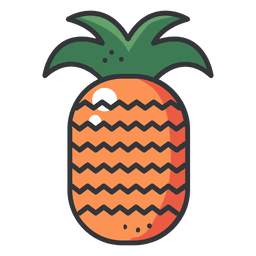 Ícone de traço de cor de abacaxi