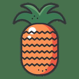 Pineaple Farbe Strich Symbol